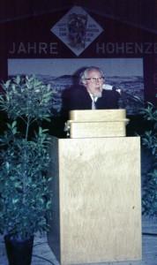 Professor Harder bei seiner Festansprache
