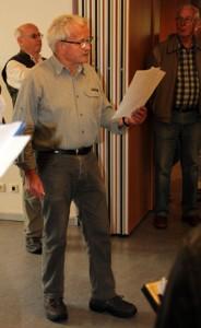Hans Fehl berichtet über die Dorferneuerung.