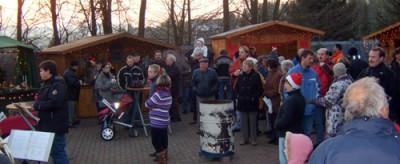 Publikum des Weihnachtsmarktes