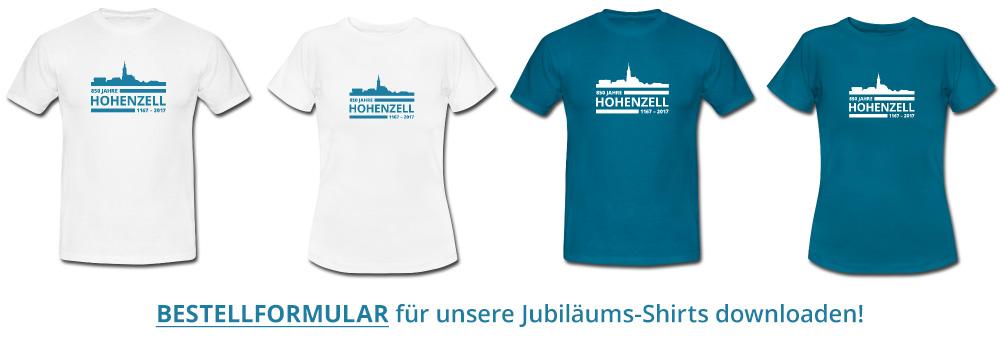 Bestellformular T-Shirts